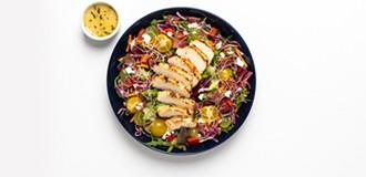 Rosemary Chicken & Turkey Bacon Salad